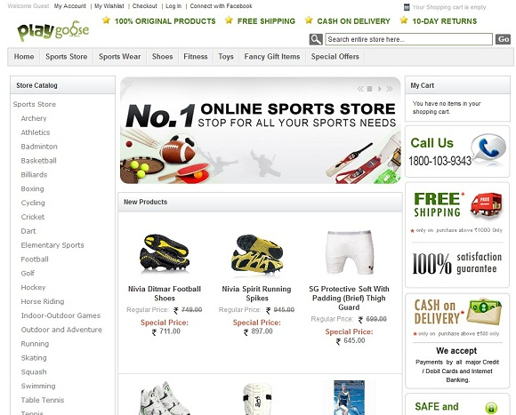 Online shopping websites cash on delivery