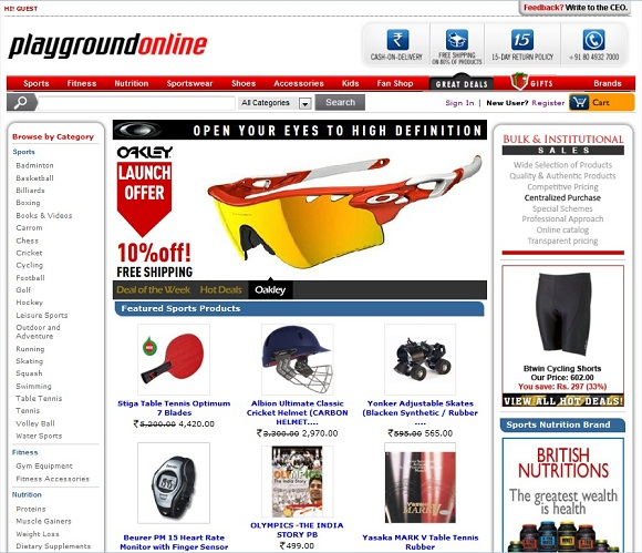 Online sports shopping websites in india for Good online fashion shopping sites