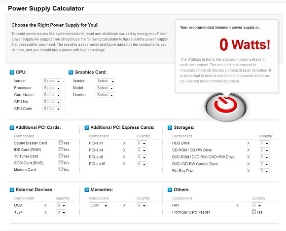 Generator Wattage Worksheet : Power supply wattage calculator