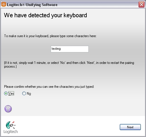 Logitech Unifying Receiver Software Screenshot 3