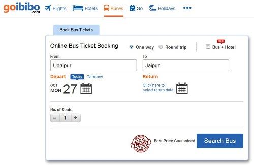 Bus booking coupons goibibo