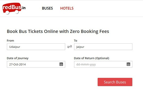 redBus offers online bus tickets booking option and also promotes hassle-free bus travel across India. Undergo a quick bus ticketing procedure, simply choose suitable bus seats, bus type and bus operator then fulfil secured online payment in just few seconds. redBus develops incredible travelling experience from selecting bus type, boarding points and operators to bus reservation at lowest fares.