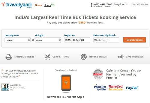Best websites to book bus tickets online in india for Best booking site for flights