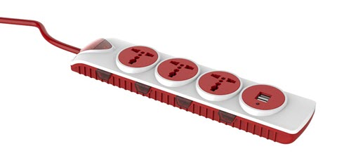 Goldmedal Essenza 4 X 4 Power Strip with USB