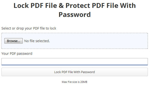 password protect adobe file
