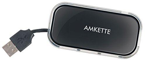 Amkette FUH340 Highspeed USB 2.0 Turbo 4 Port Hub