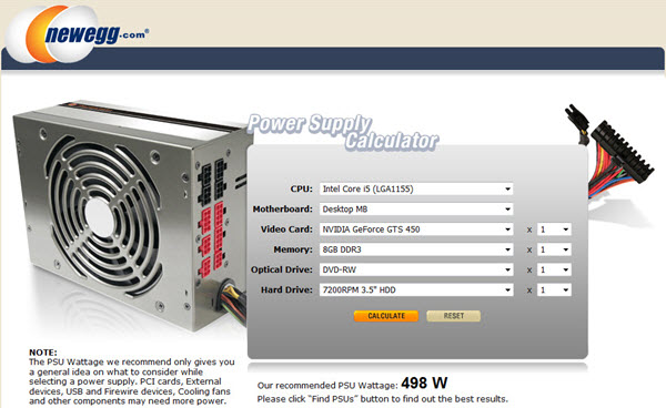 newegg-power-supply-calculator