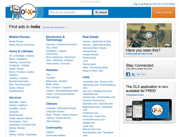 Top 5 Free Classified Sites in India