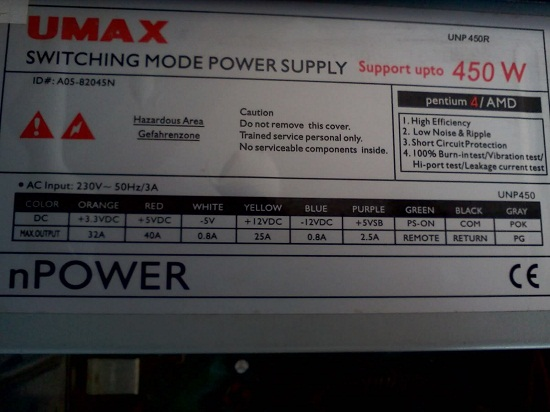Is UMAX 450 Watt SMPS enough for your PC?