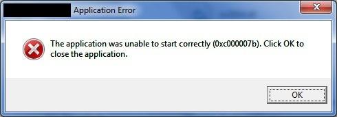 0xc00007b-error