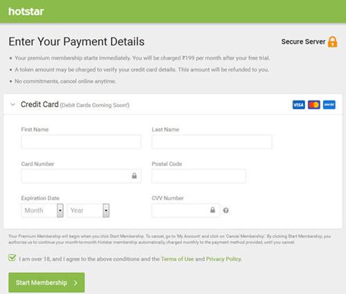 hotstar-payment